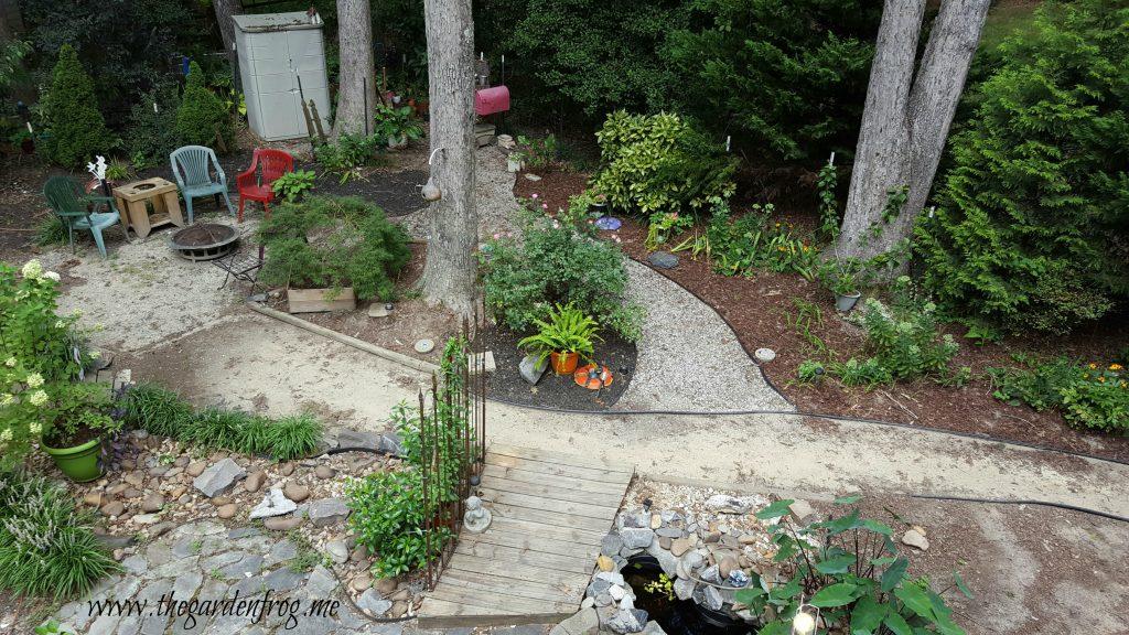 Design your flower garden or landscape through the window, landscaping